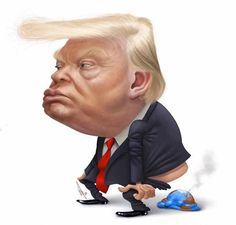 Yeeepppp that pretty much sums it up. Caricature Artist, Caricature Drawing, Funny Caricatures, Celebrity Caricatures, Political Satire, Political Cartoons, Cartoon Faces, Funny Faces, Cartoon Art