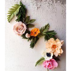 238 отметок «Нравится», 21 комментариев — Maggie Harrison (@loveforsaleshop) в Instagram: «Spring things #spring2016 #handmade #handmadeflowers #garland #feltflowers #peonies #dahlia…»