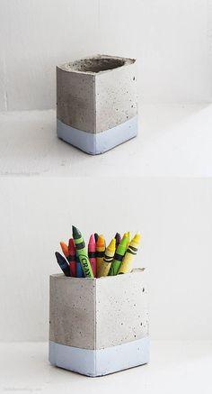 lapicero de hormigón
