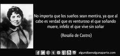 """El 15 de julio de 1885 #TalDíaComoHoy falleció la poeta española Rosalía de Castro, precursora de la modernidad e iniciadora de una nueva métrica castellana. Entre sus composiciones destacan """"La Flor"""", """"Follas novas"""", """"Cantares"""" y """"En las orillas del Sar"""". Nació el 24 de febrero de 1837."""