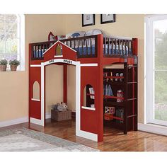fire station loft bed you can build yourself. for when baby is