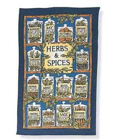 Loving this Herbs & Spices Linen Tea Towel on #zulily! #zulilyfinds