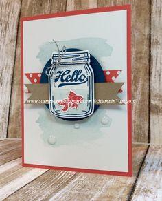 card mason jar fish goldfish Jar of Love SU - summer seaside vacation neach sea ocean