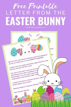 This Free Printable Letter from the Easter Bunny is perfect for placing inside Easter Baskets! This Free Printable Letter from the Easter Bunny is perfect for placing inside Easter Baskets! Easter Craft Activities, Easter Games, Easter Crafts, Baby Activites, Easter Decor, Easter Ideas, Hoppy Easter, Easter Bunny, Easter Printables
