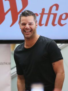 Ricky Martin gestures during a promotion for his Greatest hits release at Westfield Southland on May 11, 2013 in Melbourne, Australia.