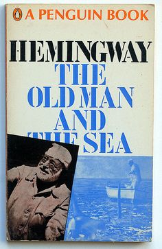 Ernest Hemingway : The Old Man and the Sea Penguin Books - Harmondsworth , 1969 cover design by David king n° 1937 Book Cover Design, Book Design, Time And Tide, Vintage Classics, Ernest Hemingway, Penguin Books, Book Nooks, Old Men, Heavenly