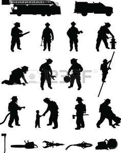 Firefighter Clipart, Firefighter Room, Firefighter Decals, Female Firefighter, Silhouette Clip Art, Silhouette Images, Fireman Quilt, Fire Truck Craft, Truck Crafts