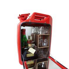 Bar Cabinet // Gas Red (Oak)