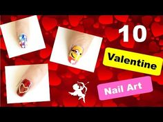 10 Valentine's Day Nail Art Designs | DIY love nails | Style Small World - http://47beauty.com/nails/index.php/2016/08/07/10-valentines-day-nail-art-designs-diy-love-nails-style-small-world/ http://47beauty.com/nails/index.php/nail-art-designs-products/    Hello sisters! In this video I'm sharing 10 Valentine's Day Nail Art Designs tutorial. All these designs are very easy and super cute. I'm confused which one to apply on my nails on valentine's day