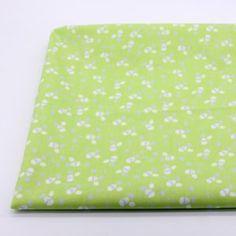1 Meter Cotton Cloth Woven Fabric Green Printed Japanese Fabric Diy Craft Sewing Scrapbooking Quilting  Woven Pillow Dress Skirt Width 110cm