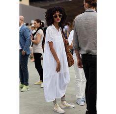 White oversize dress