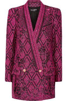 Balmain Metallic jacquard blazer | THE OUTNET