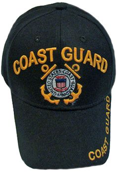 dfe8975d0e0 Coast Guard YOUTH Hat Black with Logo Kids Baseball Cap Military Children