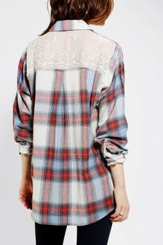 How about I just make this myself?? BDG Lace-Back Button-Down Shirt