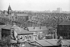 View looking across Woodhouse Street towards Quarry Mount School