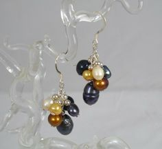 Freshwater Pearl and Sterling Silver Earrings.