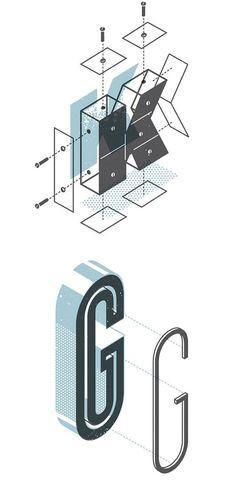 The Exploded Alphabet by Matt Stevens