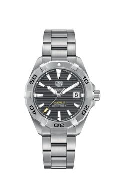 Stainless Steel Watch, Stainless Steel Bracelet, Cool Watches, Watches For Men, Latest Watches, Popular Watches, Datejust Rolex, Tag Heuer Aquaracer Automatic, Junghans