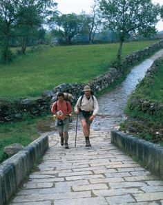 My Husband and I hope to Hike the el Camino de Santiago pilgrimage in Spain. Places In Spain, Places To Go, Spain Pilgrimage, St James Way, Roman Roads, St Jacques, Walking Routes, The Camino, Pilgrims