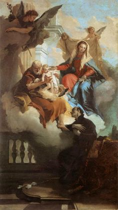 Page of The Holy Family Appearing in a Vision to St Gaetano by TIEPOLO, Giovanni Battista in the Web Gallery of Art, a searchable image collection and database of European painting, sculpture and architecture Saint Cajetan, Republic Of Venice, Web Gallery Of Art, Biblical Art, Italian Painters, European Paintings, Catholic Art, Catholic Saints, Art Database