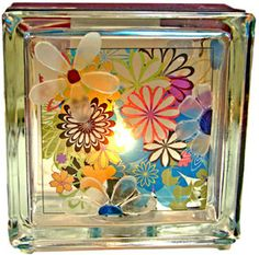 #KraftyBlok #glassblock #glassblockcraft Flower Power Project