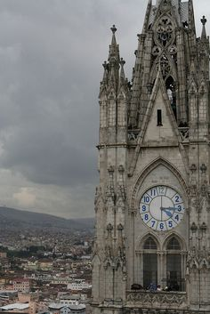 up in the Andes is the Basilica of Quito, Ecuador. #HipmunkBL