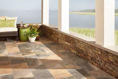 Serrano Multicolor Porcelain Tile - 12 x 24 - 100505924 Outdoor Tiles Floor, Outdoor Flooring, Stone Flooring, Flooring Ideas, Kitchen Flooring, Porch Tile, Patio Tiles, Outdoor Rooms, Outdoor Living