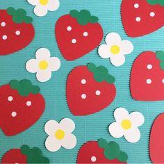 好評いただいています♡いちご 苺 春 壁面飾り ディスプレイ