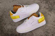 Nike Air Force 1 Low N354 Type White Gold Yellow AT7859-100 Air Force 1, Air Force Shoes, Nike Air Force Ones, Malaga, Nike World, Nike Kicks, Converse, Nike Fashion, Fashion Shoes