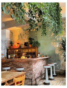 Coffee Shop Interior Design, Cafe Design, Cafe Restaurant, Cafe Bar, Bohemian Cafe, Boho Bar, Eclectic Cafe, Vintage Cafe, Vintage Modern