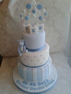 boys christening cakes - Google Search