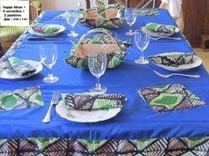 nappe de table et serviettes en pagne