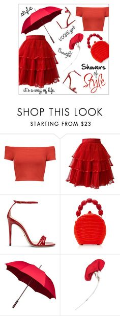 """""""Showers of style"""" by outfitsloveyou ❤ liked on Polyvore featuring Alice + Olivia, Ella Singh, Gucci, Nancy Gonzalez and Tiffany & Co."""