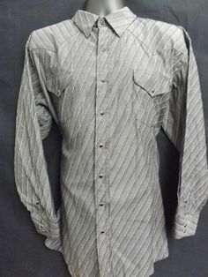 """Big And Tall Men's """"Panhandle Slim"""" Pearl Snap Shirt Long Sleeve Size 18-36"""