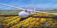 Ka6cr Painting - Ka6cr Sailplane by Gabriele Baber
