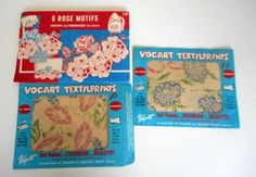 Vintage Vogart Floral Textilprints and Iron by nanascottagehouse