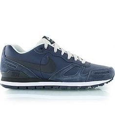 nike AIR WAFFLE TRAINER LEATHER blue
