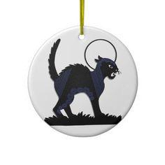 Halloween Black Cat & Moon - 3