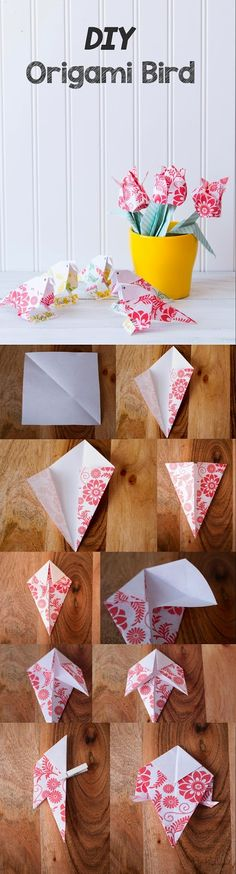 Spring DIY Origami Bird Paper Crafting | Paper Flowers Handmade Tutorials DIY