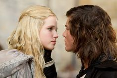 Still of Logan Lerman (D'artagnan) and Gabriella Wilde (Constance) in The Three Musketeers 2011