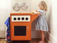 DIY Play Kitchens for the Kids | Plaid