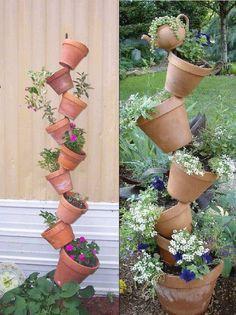 Tilted flower pots!!!