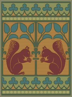 Gothic Squirrel Art Poster   Bradbury & Bradbury