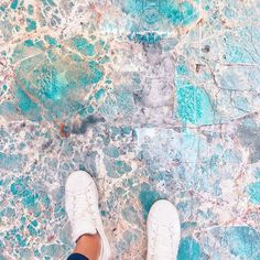 gorgeous floor made from Amazonite