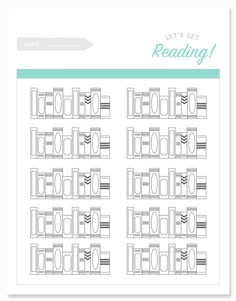 Printable Reading Log for Kids
