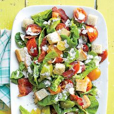 Everything you love about a summer BLT packed into a hearty salad, topped with homemade buttermilk dressing.
