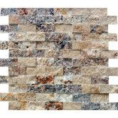 """Back Splash for Kitchen.. Found it at Wayfair - Tuscany Scabas 1"""" x 2"""" Travertine Splitface Tile in Gold"""