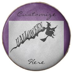 Halloween Witch Riding Broom Thunder_Cove Chocolate Covered Oreo - Halloween happyhalloween festival party holiday