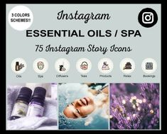 Essential-Oils-Spa-Instagram-Icons Instagram Grid, Free Instagram, Instagram Accounts, Instagram Story Template, Instagram Story Ideas, Icon Photography, Real Estate Icons, Dog Icon, Grid Layouts