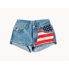 All Sizes Women Levi High Waisted Denim Shorts American Flag Small... (2,230 DOP) ❤ liked on Polyvore featuring shorts, grey, women's clothing, american flag denim shorts, jean shorts, high-waisted shorts, high-waisted jean shorts and zipper pocket shorts